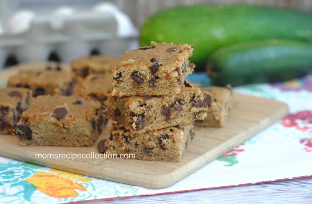 These delicious Zucchini Chocolate Chip Bars are easy to make and so good!