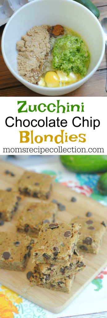 Zucchini Chocolate Chip Bars | Mom's Recipe Collection