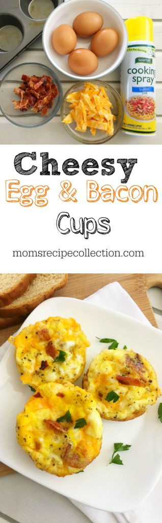 Cheesy Egg & Bacon Breakfast Cups | Recipe from Mom's Recipe Collection