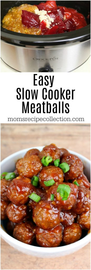 This step by step slow cooker meatballs recipe is easy and delicious.