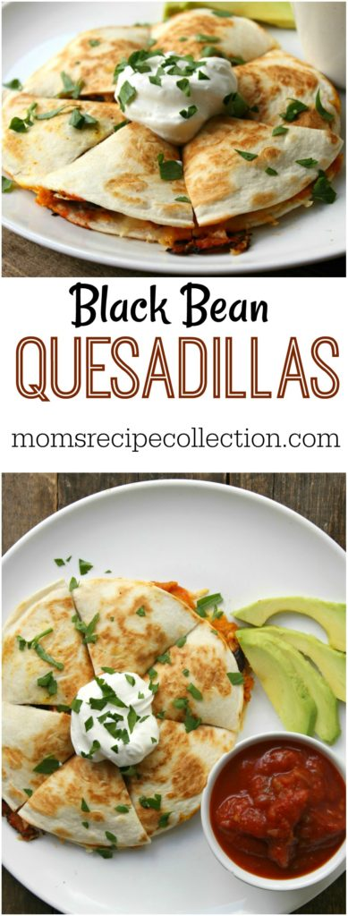 Mom's Recipe Collection | These easy black bean quesadillas are simple and so tasty.