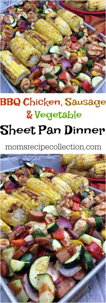 Sheet Pan BBQ Chicken Breast, Sausage, and Vegetables | One Pan BBQ Chicken Dinner