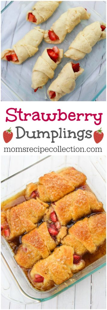 Strawberry Dumplings with Crescent Rolls! | Mom's Recipe Collection