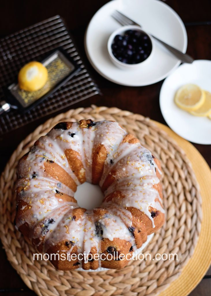 The glaze on the Lemon Blueberry Pound Cake is perfectly sweet!