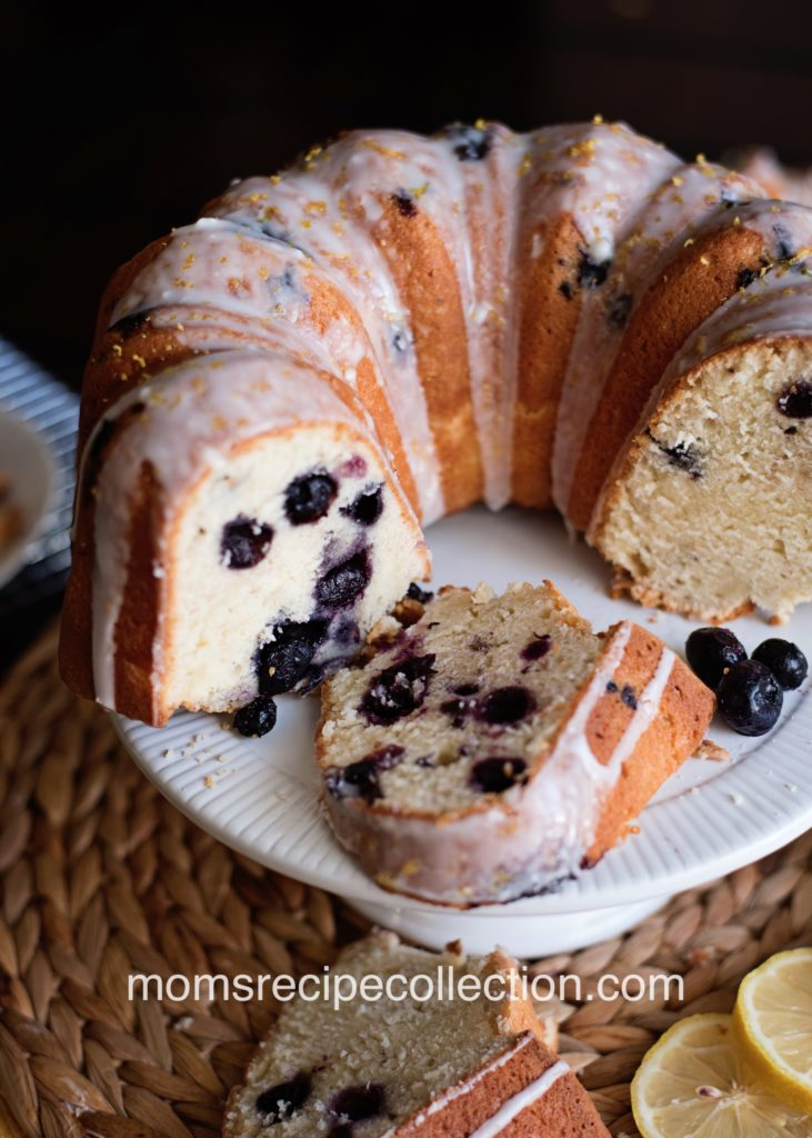 This Lemon Blueberry Pound Cake is moist and bursting with flavor!