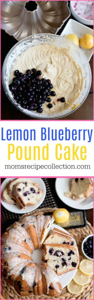 This recipe for Lemon Blueberry Pound Cake uses Greek yogurt and fresh fruit!