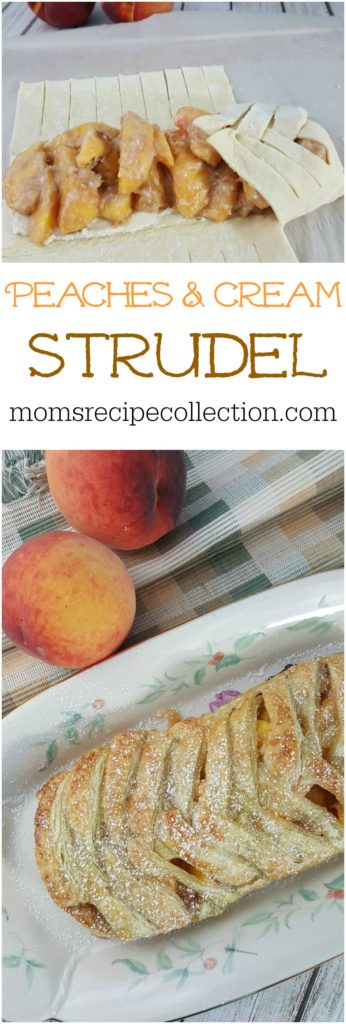 This Peaches and Cream Strudel is delicious and beautiful!