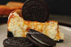 Toffee Caramel Cheesecake with Oreo Crust