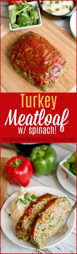 Super Moist Turkey Meatloaf with Spinach