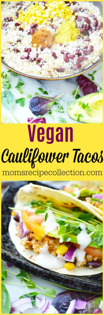 This recipe for vegan cauliflower tacos is simple and easy to follow.