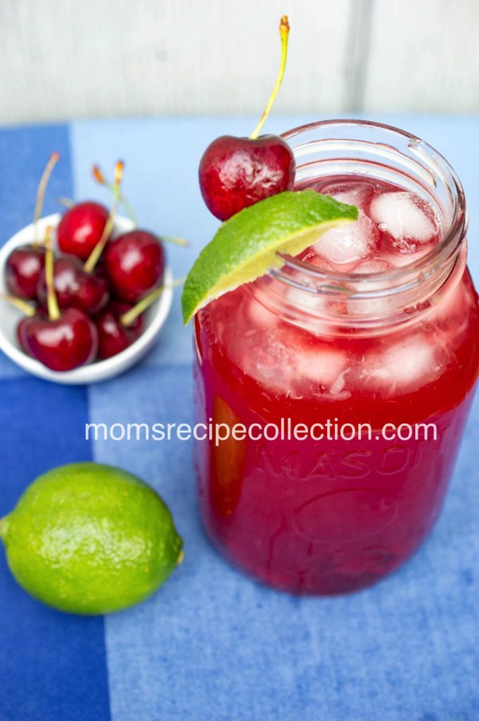 This Cherry Lime Sweet Tea is the perfect summer beverage!