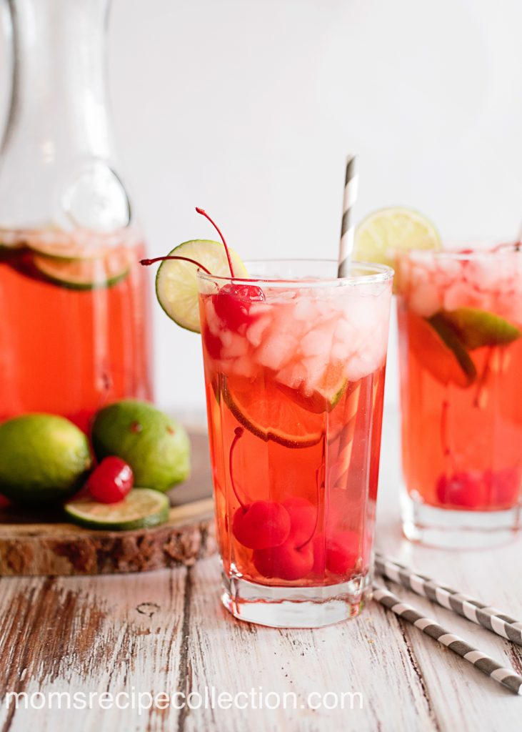 This sparkling cherry limeade is the perfect summer beverage.