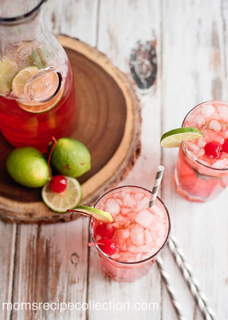 This sparkling cherry limeade is the perfect drink for a sunny day.
