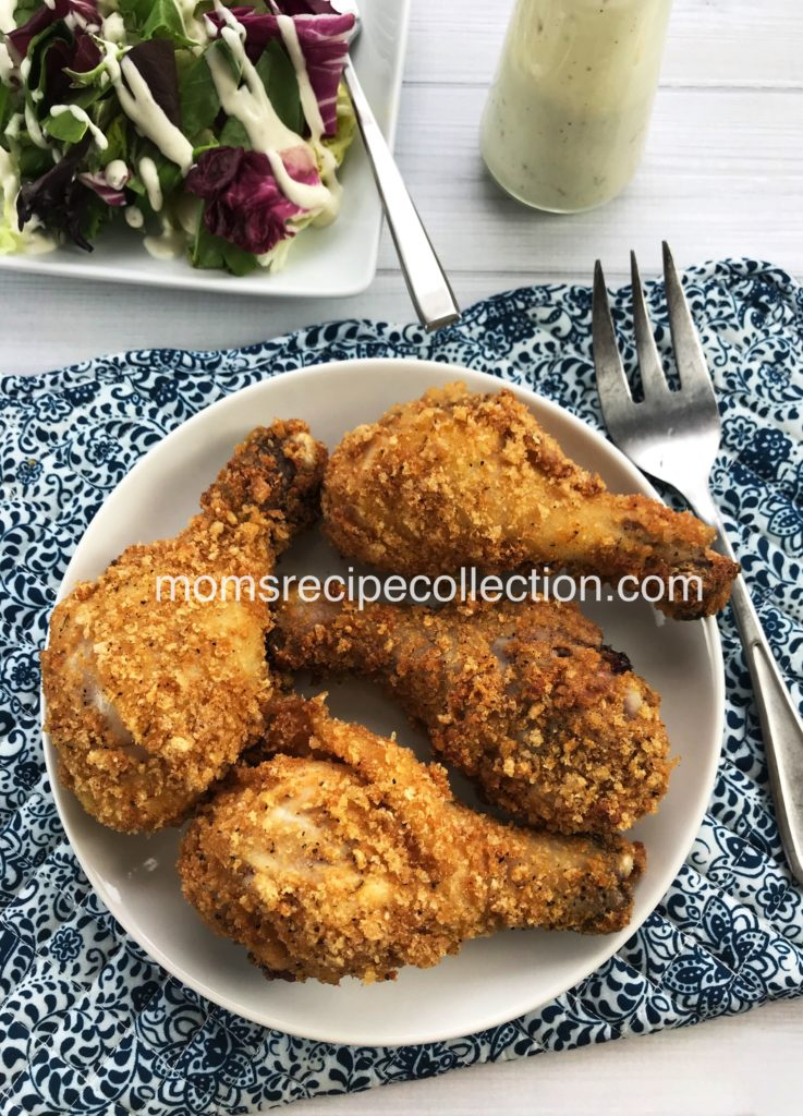These low carb fried chicken legs go great with a side salad.