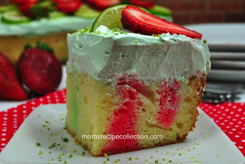 This light and fluffy strawberry margarita cake recipe is the perfect combination of flavors.