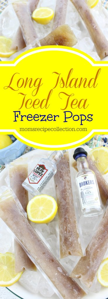 These Long Island iced tea freezer pops are easy to make and full of citrus flavors.