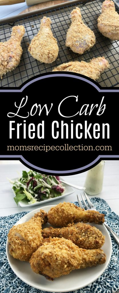 This low carb fried chicken recipe is simple and keto friendly.
