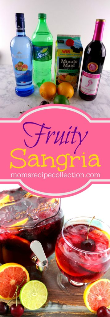 This fruity sangria comes together quickly and is refreshing.