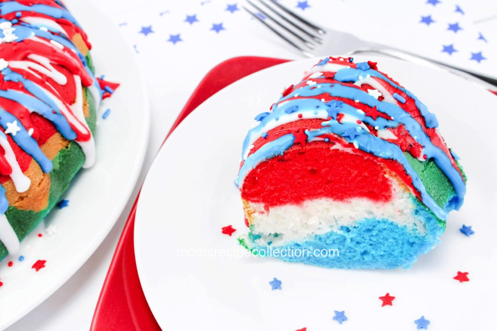 Wow your guests with this patriotic Firecracker Bundt Cake!