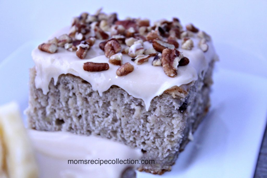 The flavors and textures of Mom's Banana Cake will make your mouth happy!