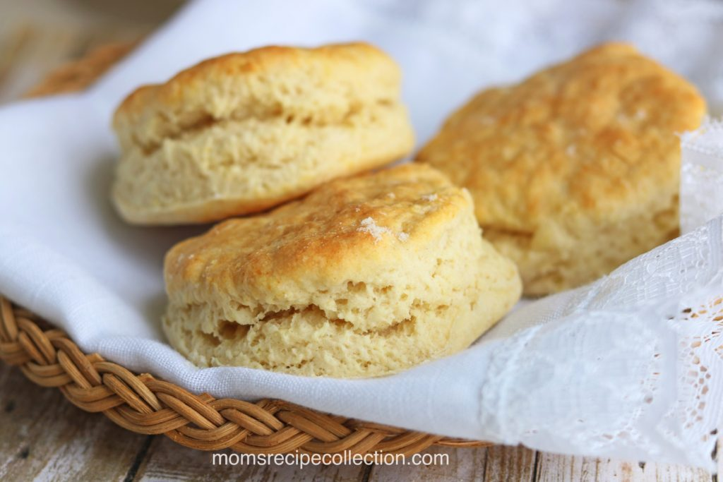 These old fashioned buttermilk biscuits are flaky and baked to perfection.