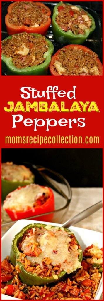 This stuffed jambalaya peppers recipe is simple and tastes amazing.