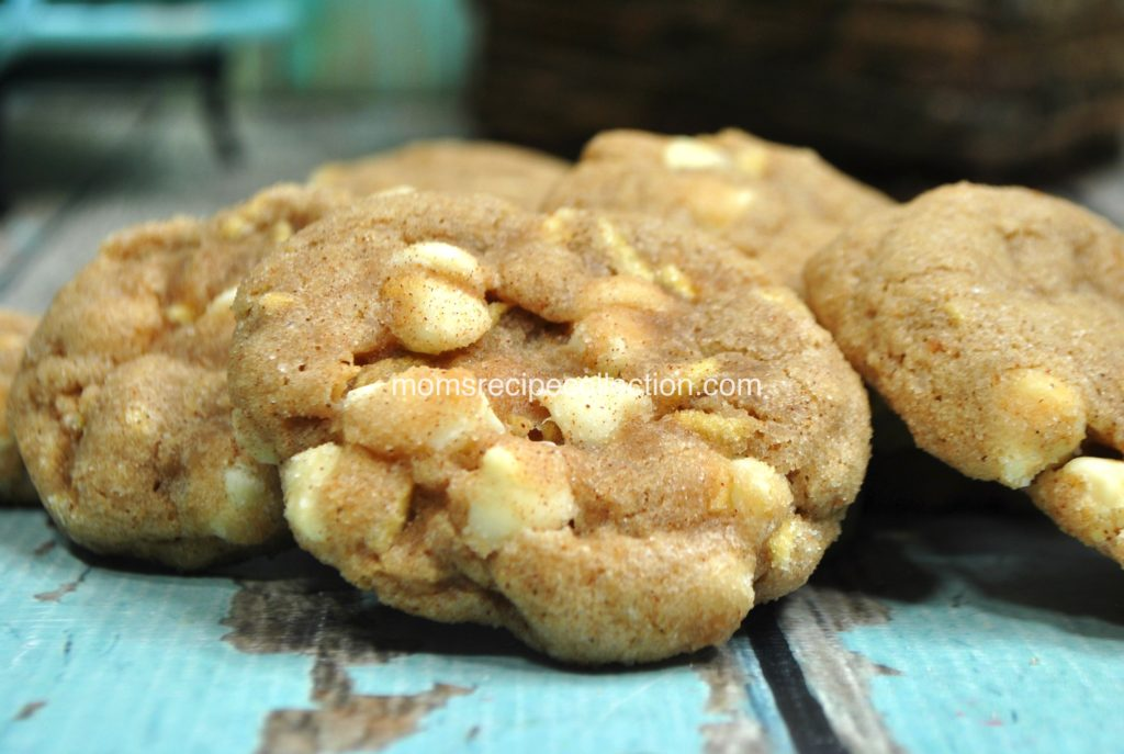 These homemade apple snickerdoodle cookies are soft and sweet.
