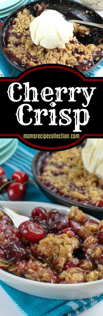 The homemade cherry crisp recipe is simple and sweet.