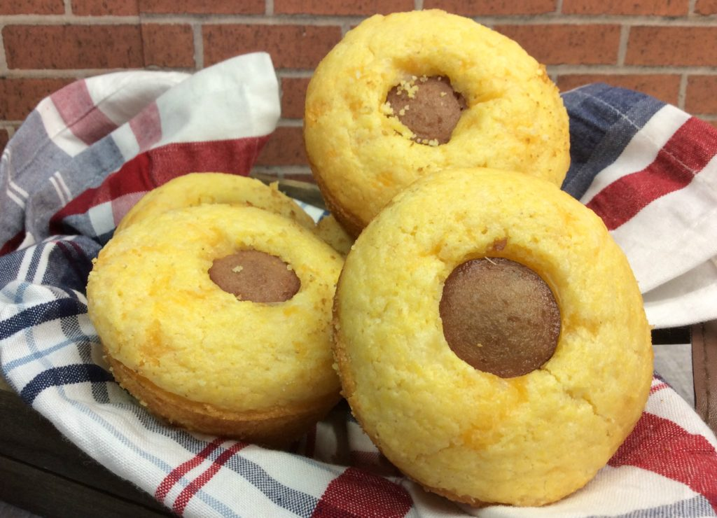 These cheddar corndog muffins are super easy to make.