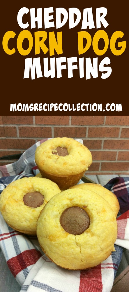 Mom's Recipe Collection | Delicious and easy cheddar corn dog muffins are the perfect treat.