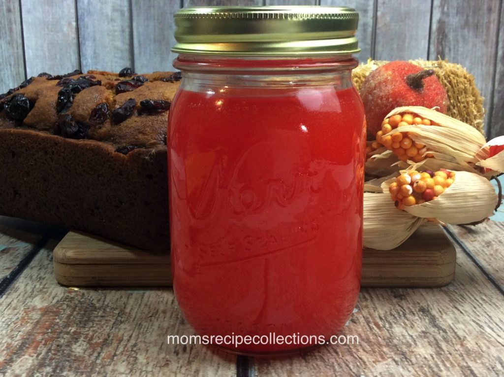This pumpkin cranberry moonshine is festive for fall and stores well in a mason jar.
