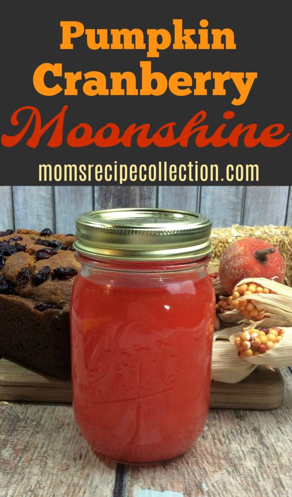This pumpkin cranberry moonshine is a fun twist on a classic.