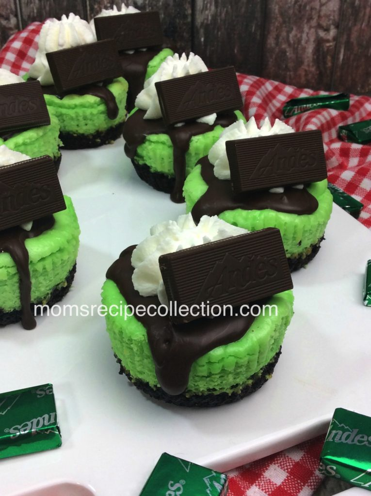 If you love mint and chocolate, then you've got to try these Ande's Cheesecakes!