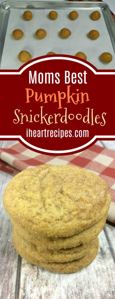 Mom's Recipe Collection | This pumpkin snickerdoodle cookie recipe is simple and tasty.