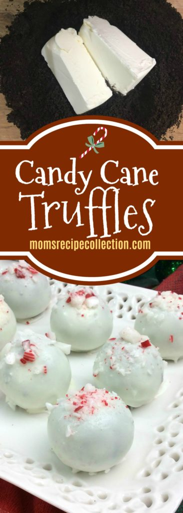 These Candy Cane Truffles are festive and delicious!