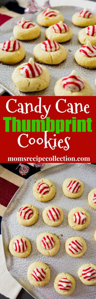 Mom's Recipe Collection | Candy Cane Thumbprint Cookies are easy and adorable