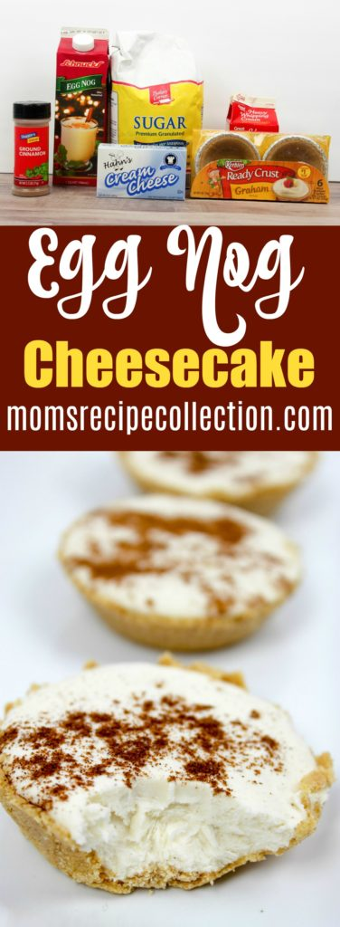 Mom's Recipe Collection | This egg nog cheesecake recipe is perfect for the holiday season.
