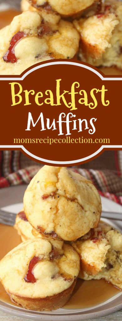 Mom's Recipe Collection | Delicious and easy breakfast muffins with bacon and sausage!