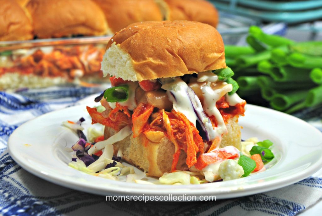 These instant pot buffalo chicken sliders are the perfect game day appetizer!