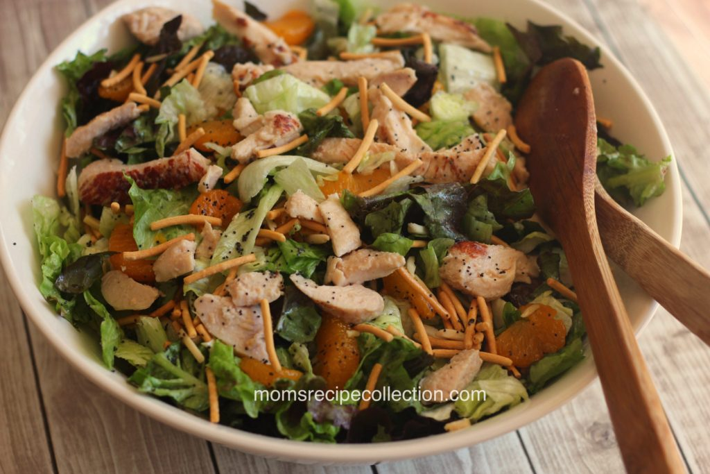 delicious grilled chicken, sweet mandarin oranges and leafy greens