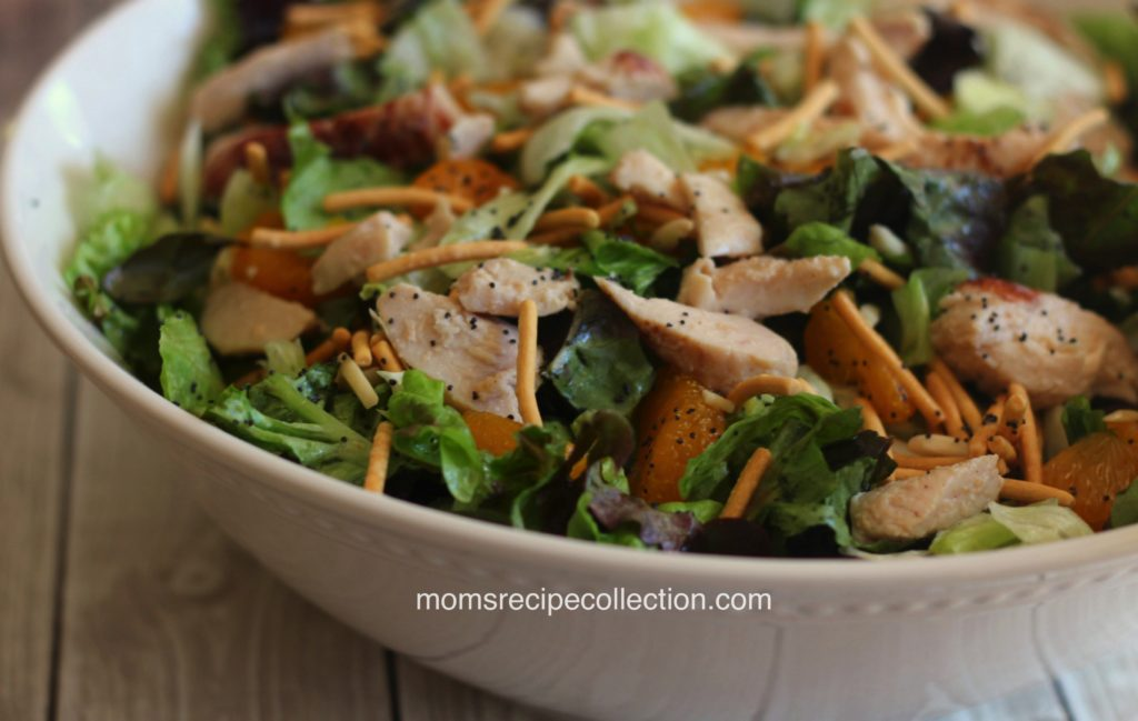 This mandarin orange chicken salad is a light and refreshing lunch