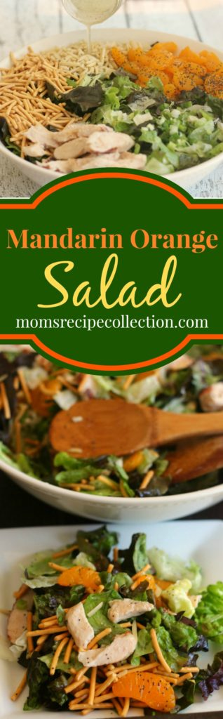 Mom's Recipe Collection | Delicious mandarin chicken salad is a light and refreshing lunch recipe.