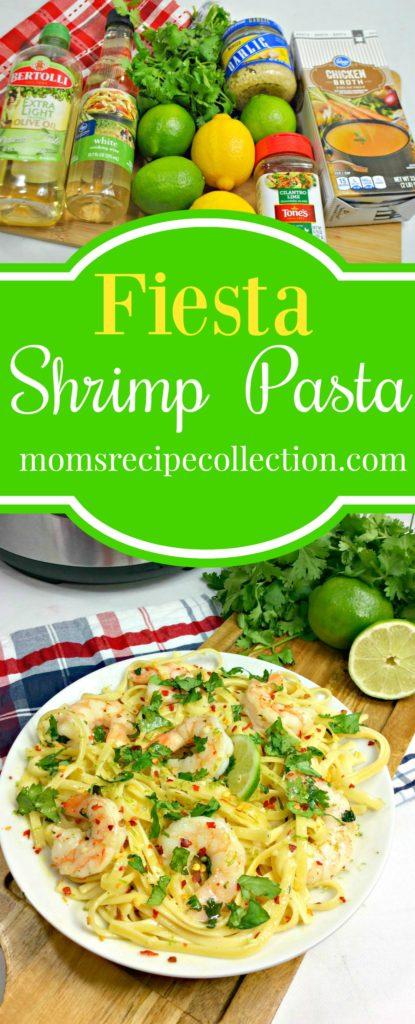 Try this delicious and easy to make Fiesta Shrimp Pasta.