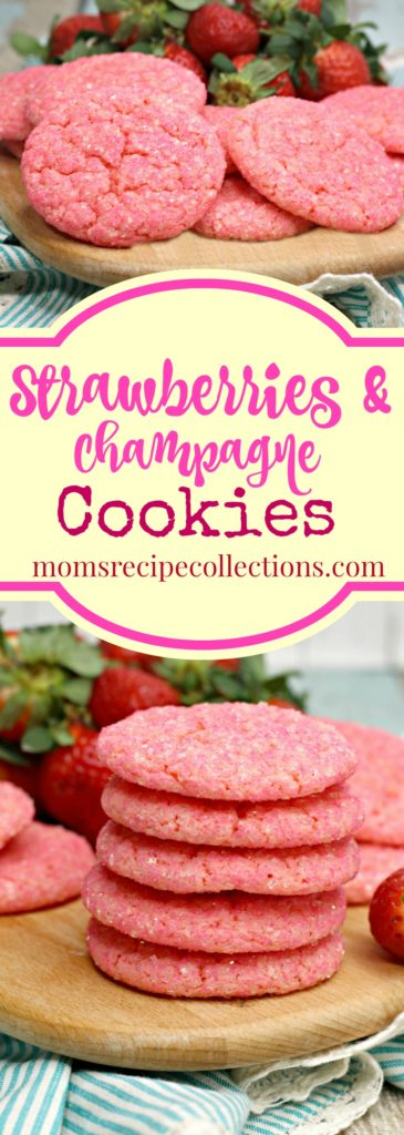 Delicious Strawberries and Champagne Cookies will delight at your next event.