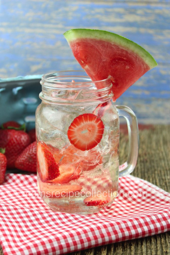 Treat yourself to this delicious strawberry and watermelon sangria on a warm summer day.