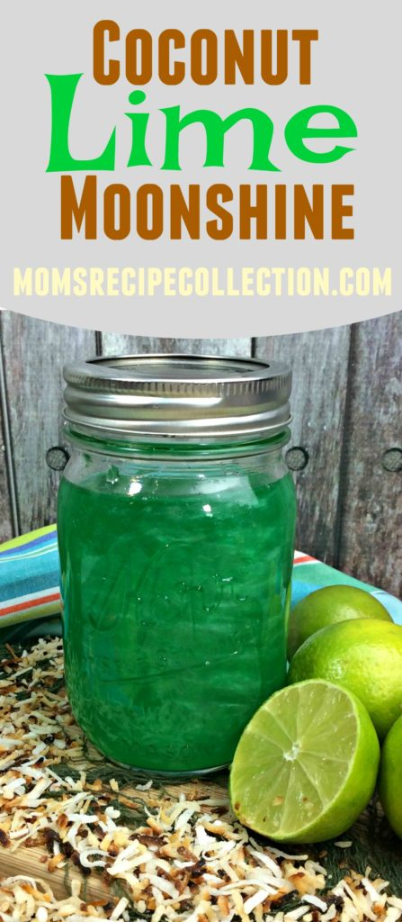 Coconut Lime Moonshin is refreshing and serves well in a mason jar