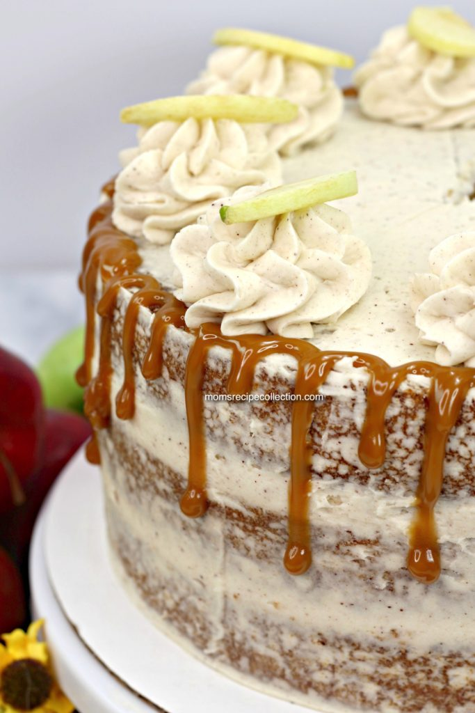 This delicious apple cider cake is loaded with flavor.