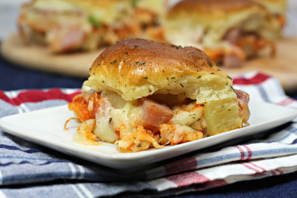 If you love Hawaiian pizza, these Baked Hawaiian Pizza Sliders are the perfect substitute for pizza night.