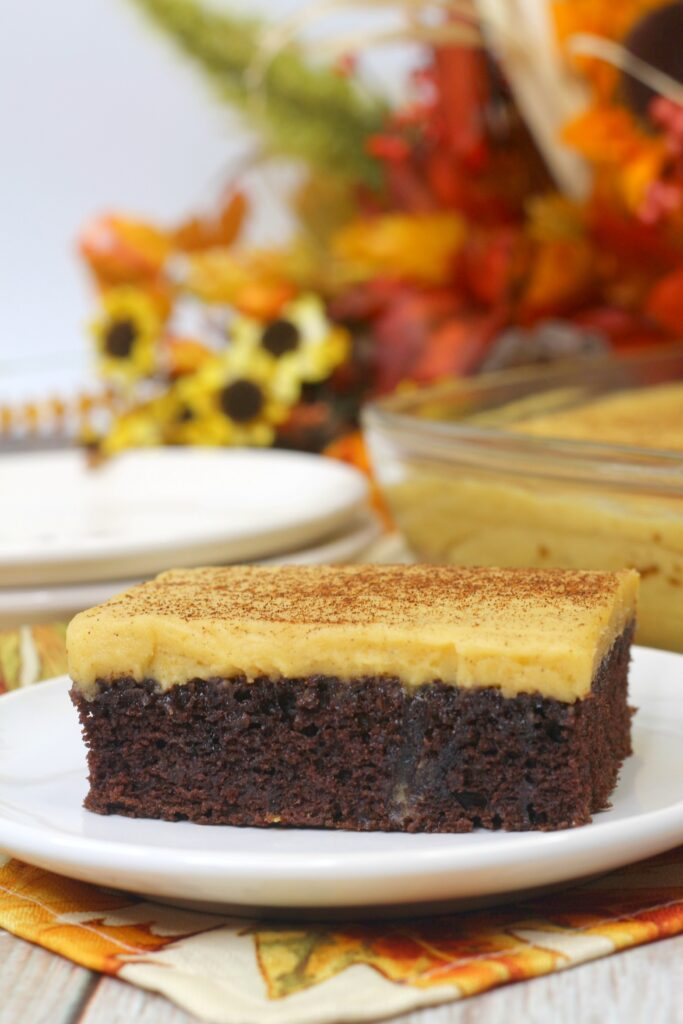 Moist and delicious, the chocolate and pumpkin flavors are a perfect combination.
