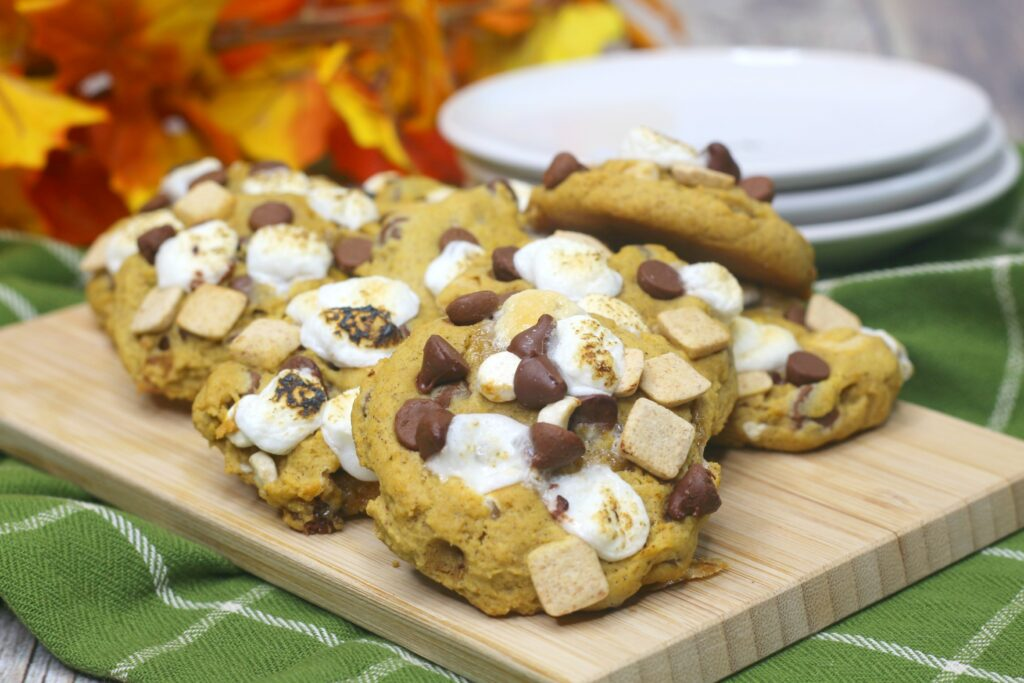 These Pumpkin Smores Cookies will be your new favorite cookie. So gooey and delicious!